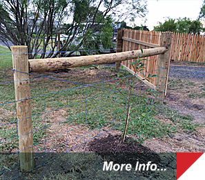 Country property decorative fencing